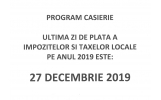 Program caserie - Decembrie 2019